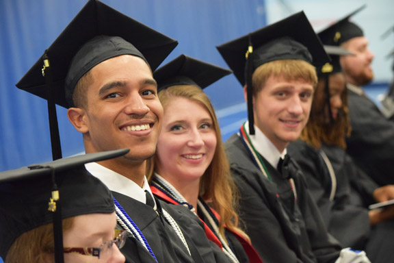 ALL SMILES: Approximately 325 students were awarded bachelor's degrees during Virginia Wesleyan's Commencement Ceremony on May 14 in the Jane P. Batten Student Center.