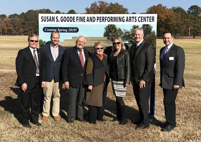 Groundbreaking for the Susan S. Goode Fine and Performing Arts Center
