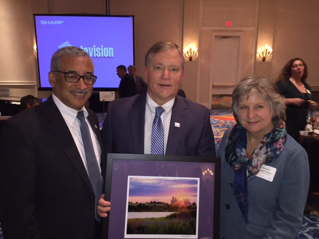 President Miller with Rep. Bobby Scott and Executive Director of the Elizabeth River Project Marjorie Mayfield Jackson