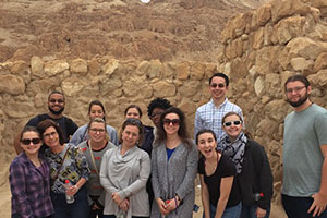 Religious study students at the Dead Sea Scrolls, Israel, January 2018 . Photograph by Greg West.