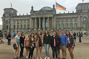 Virginia Wesleyan students in Berlin, Germany, summer 2018. Photograph by Antje Schwennicke.