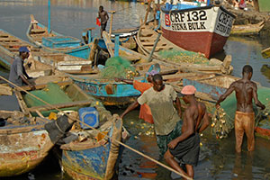 Ghanian Port Fishing Boat. Photograph by Pixabay.