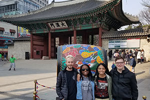 Virginia Wesleyan students in South Korea, March 2017. Photograph by Prof. Dan Margolies.