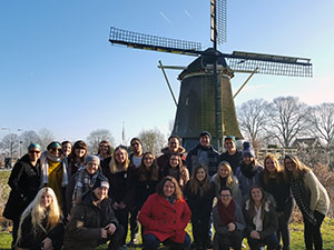 Virginia Wesleyan students in the Netherlands, January 2017. Anonymous photographer.