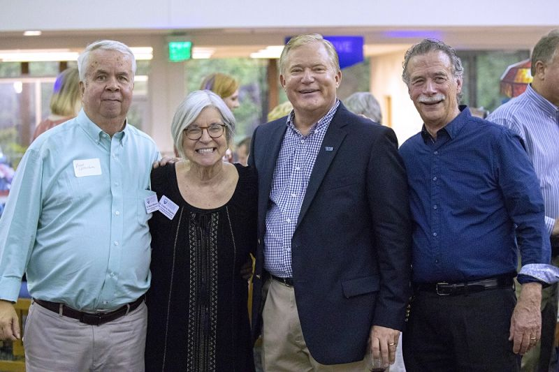 Pictured: Bob Albertson, Linda Ferguson, President Scott D. Miller, and Dave Garraty.