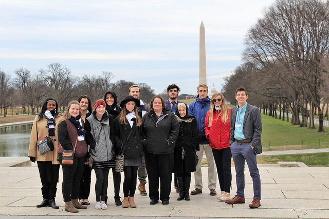 A group of VWU students in Washington DC